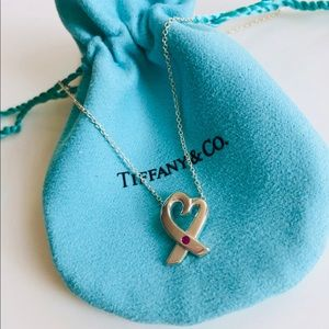 Tiffany & Co X Pendant by Paloma Picasso with ruby